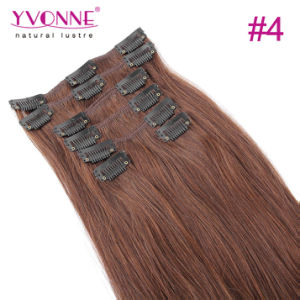 Natural Straight Clip in Hair Extensions Human Hair pictures & photos