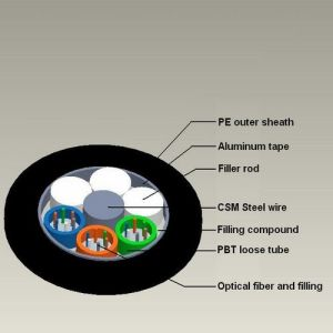 GYTA 24 Core Directly Buried Fiber Optical Cable pictures & photos