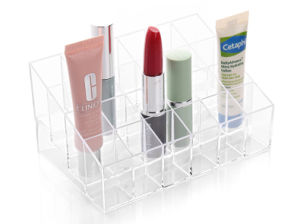 Acrylic Material Counter Acrylic Lipstick Display for Store, 24 Holder Display pictures & photos