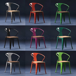 Restaurant Cafe Used Wooden Seat Tolix Arm Chair (SP-MC039W) pictures & photos