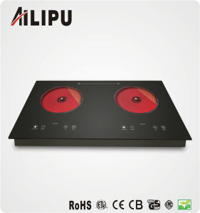 2015 2 Burner Electric Stove Infrared Cooker for Kitchen Appliance pictures & photos