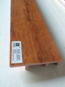 Laminated of PVC Wall Skirting Baseboard Flooring Accessories pictures & photos