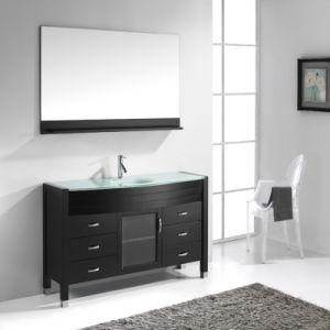 Floor Standing Solid Oak Wood Single Sink Bathroom Vanity