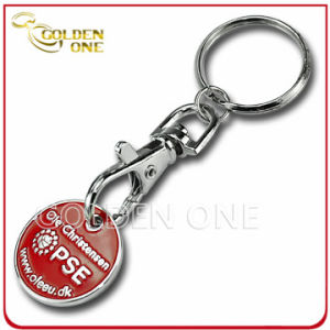 Promotion Cheap Custom Metal Trolley Coin Keyring (CH05-8) pictures & photos