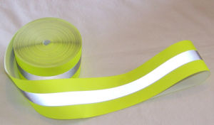 100%Polyester Woven Reflective Waning Tape pictures & photos