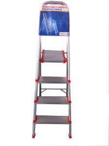 0.8m Aluminum Alloy 4-Step Household Ladder pictures & photos