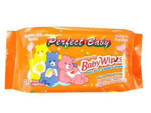 80PCS Baby Wipe Manufactory Alchol Free Wet Wipe with Plastic Bag pictures & photos