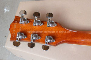 Hanhai Music / Blue Left-Hand Electric Guitar with Quilted Maple Veneer pictures & photos