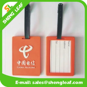 China Manufacturer Logo Brand PVC Rubber Luggage Tag (SLF-LT041) pictures & photos