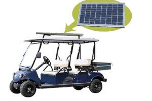 Hdk 4 Seat Solar Panel EEC Electric Golf Cart with Aluminum Cargo pictures & photos