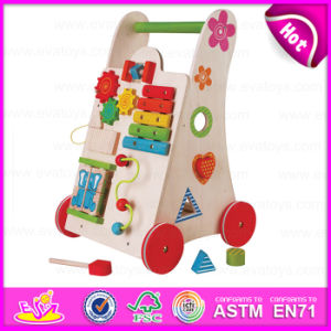 2015 Attractive Appearance Wooden Push Walker Toy, Top Grade Creative Kid Walker Toy, Multifunction Baby Wooden Walker Toy W16e033 pictures & photos