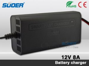 Suoer Hot Sale Battery Charger 8A Smart Fast Battery Charger 12V with Three-Phase Charging Mode (SON-1208) pictures & photos