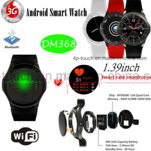3G/WiFi Round Screen Smart Watch with Heart Rate Monitor Dm368 pictures & photos