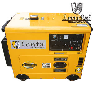 Super Silent 5kw 6kVA Portable Household Gasoline Generator with Wheels pictures & photos