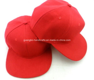 Custom Red 6 Panel Snapback Blank Caps pictures & photos