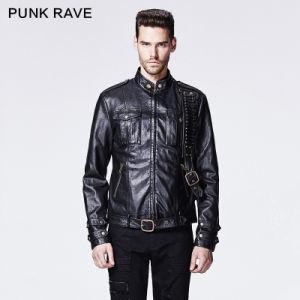 2015 Autumn New Design Punk Rave Black Man Jacket (Y-592) pictures & photos