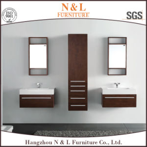 Top Quality Oak Wall Cabinet of Bathroom Vanity with Porcelain pictures & photos