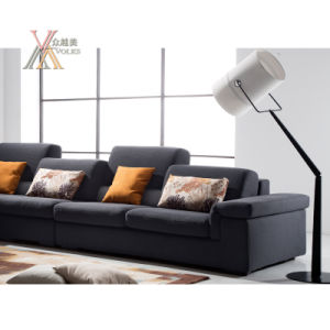 Multifunctional Fabric Sofa Set with Storing Space and Adjustable Back (1605) pictures & photos