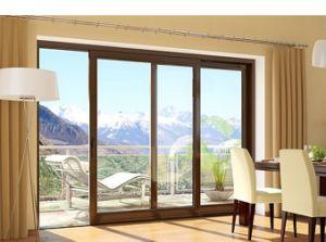 European Style Aluminum Sliding Glass Patio Doors pictures & photos