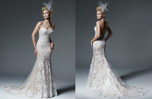 2016the New Custom Made Lace Mermaid Wedding Dress