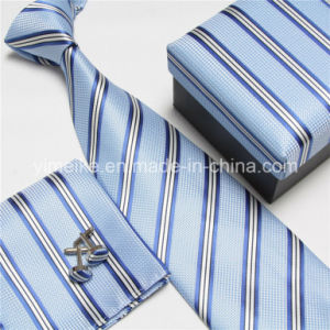 Good Quality Tie and Hanky and Cufflink Set for Men (WH17) pictures & photos