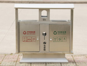Hot Selling Stainless Steel Outdoor Dustbin (HW-83) pictures & photos