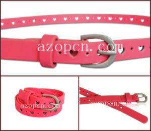Lady′s Fashion Cut out Design PU Belt pictures & photos