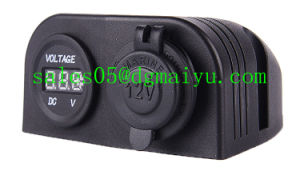 12-24V Car Cigar Power Socket with LED Voltmeter pictures & photos