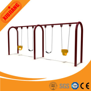 Ce Approved Kids Playground Swing Four Seat Iron Swing Sets pictures & photos