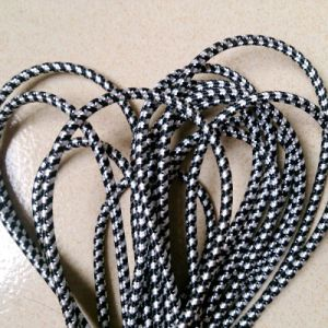 Black White Patterns Fabric Braided Cable pictures & photos