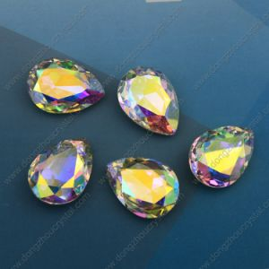 Wholesale Customizing Size Crystal Ab Teardrop Shape Fancy Decorative Glass Stones pictures & photos
