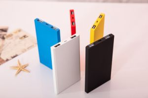 4000mAh Ultra This Slim Lithium Polymer Dual USB Output Mobile Power Bank Charger for iPhone (PB-W0406) pictures & photos