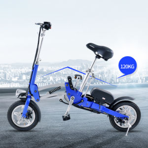 35km Mileage Wholesales 12inch Folded Electric Bicycle Scooter with Knock-Down Lithuim Battery pictures & photos