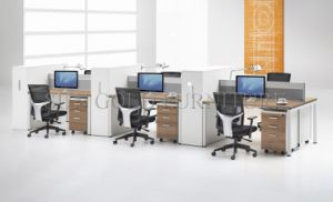 Modern Office Table Design Photos 6-Person Workstation with Cabinet (SZ-WS336) pictures & photos