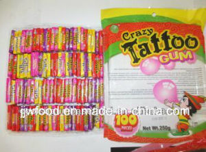 2.5g 100PCS Crazy Tattoo Bubble Gum pictures & photos