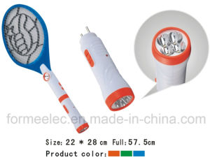 Rechargeable Electric Mosquito Swatter C035 with LED Torch pictures & photos