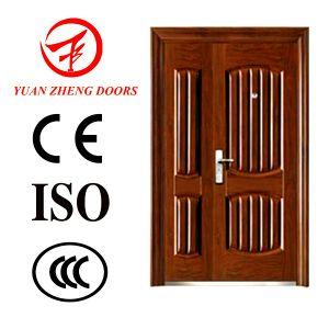 Security Steel Door/Son Mother Door with Door Hinge pictures & photos