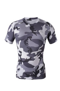 Compression Tops Shirt Running Training Body Building Short Sleeves (AKJSY-2015018) pictures & photos