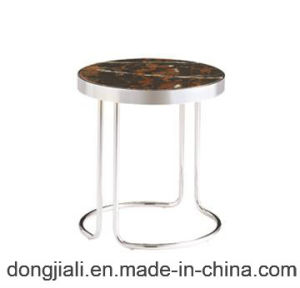 Hot Sale Stainless Steel Frame Coffee Table with Round Marble Top pictures & photos