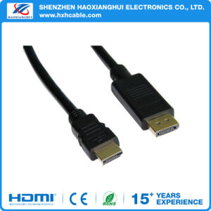 Plastic Dp to HDMI Cable, Male to Male Displayport Cable to HDMI pictures & photos