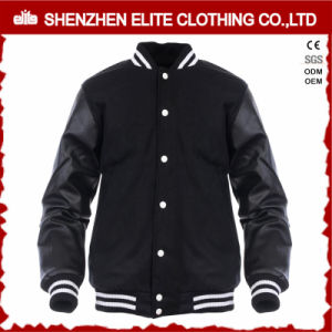 Korean Men Varsity Baseball Jacket Leather Wool pictures & photos
