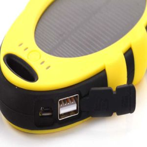 USB 5000mAh Solar Mobile Power Cell Phone Charger Power Bank pictures & photos