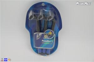 Confotable Rubber Handle Disposable Razor for Triple Blades pictures & photos