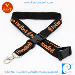 Custom Flat Polyester Printed Polyester Neck Lanyard pictures & photos