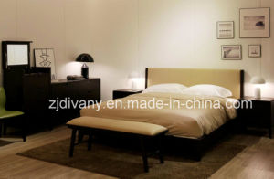 Modern Furniture Wooden Leather Bed (A-B37) pictures & photos