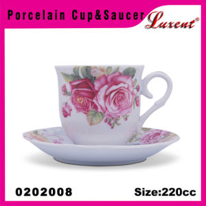 Porcelain Econormic Kitchen European Microwave Oven Safe Cup and Saucer