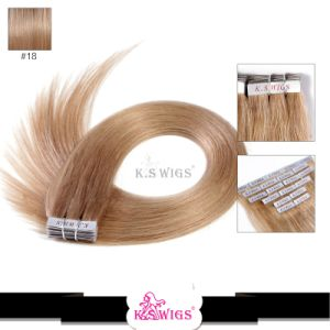 Factory Price 100% Brazilian Hair Tape in Human Hair Extension pictures & photos