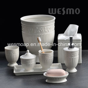 Embossed Porcelain Bathroom Set (WBC0579A) pictures & photos
