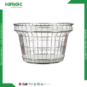 Supermarket Metal Shopping Basket with Handles pictures & photos