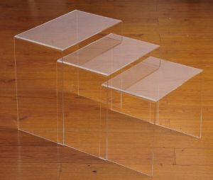 "Acrylic Coffee Cocktail Table Lucite 20"" X 14"" X 19"" High Plexiglass pictures & photos"